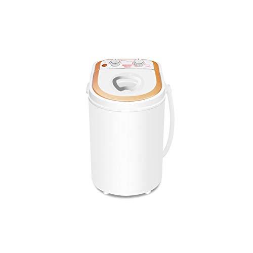 JYDQM Portable Washing Machine Single Barrel Baby Fully Automatic Wheel Home Small Mini Washing Machine White Mini…
