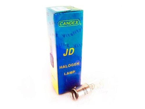 JD 50W BA15D Halogen Lamp T4 Clear 50 Watts D.C. Bayonet Base 130V (6/pack)