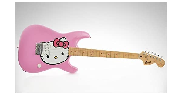 GUITARRA ELÉCTRICA HELLO KITTY FENDER SQUIER STRATOCASTER: Amazon ...