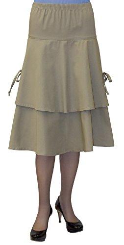 Baby'O Clothing Co. Pull On Denim or Twill Short Tie Side Apron (Denim Twill Skirt)