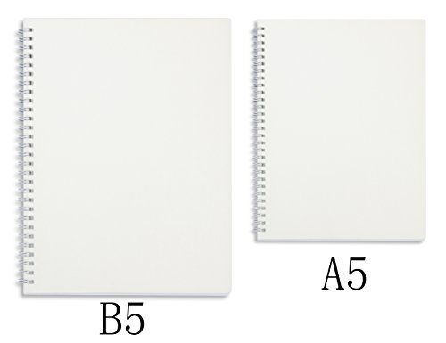 Miliko Transparent Hardcover B5 Square Grid Wirebound/Spiral Notebook/Journal Set-2 Per Pack, 7.1''x10''(Square Grid) by MILIKO (Image #3)