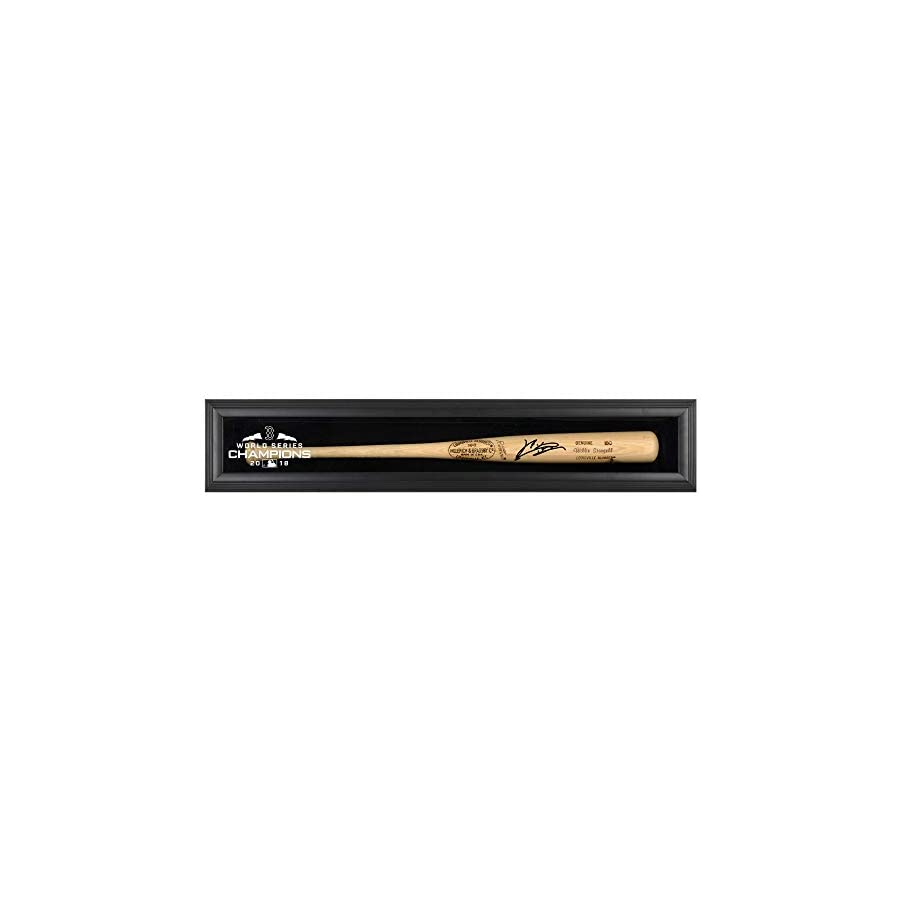 Rafael Devers Boston Red Sox 2018 MLB World Series Champions Autographed Louisville Slugger Blonde Logo Bat and Black Framed Logo Display Case Fanatics Authentic Certified