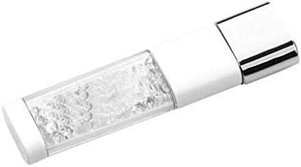 UPAN U ディスク 車 コンピューター 高速 USB フラッシュドライブ クリエイティブミニメモリーカード ビジネス 学習 オフィス メタルメモリースティック パーソナライズ カスタム クリスタル ギフト メモリースティック (カラー:ホワイト、サイズ:32G)