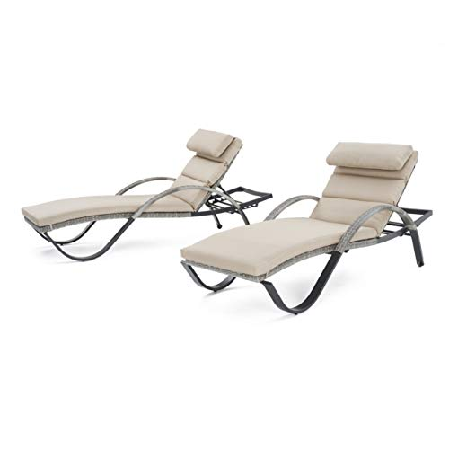 Amazon.com: RST marcas Cannes chaise Lounges con cojines, 2 ...
