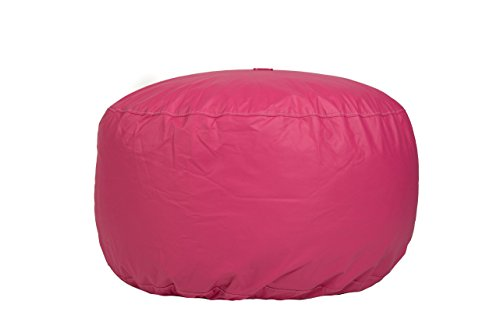 31lOaUFU5 L - Hip-Chik-Chairs-VCL03399-7191-Oversized-Tech-Leather-Round-Ottoman-Adult-Size-Hot-Pink