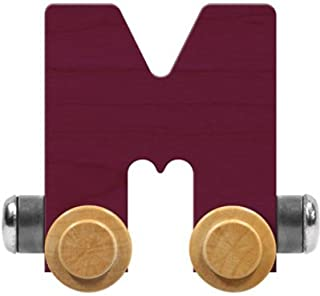 product image for Maple Landmark NameTrain Bright Letter Car M - Made in USA (Purple)