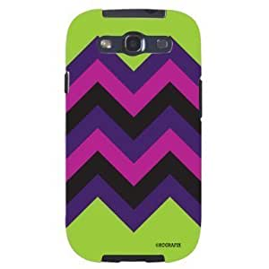 Hu Xiao Chevron Pattern Lime Green Pink Purple HIPSTER Unique Quality Soft Rubber yyDc6T8bVYv PC case cover for Samsung Galaxy S4 I9500 White case cover