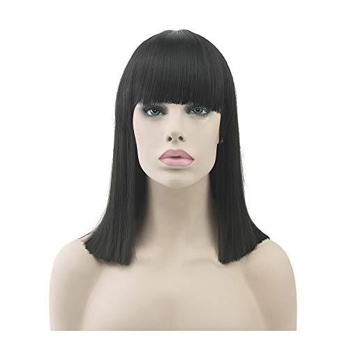 yaning Short Synthetic Hair Heat Resistant Orange Gray Hair Wig Women Party Straight Cosplay Wigs -