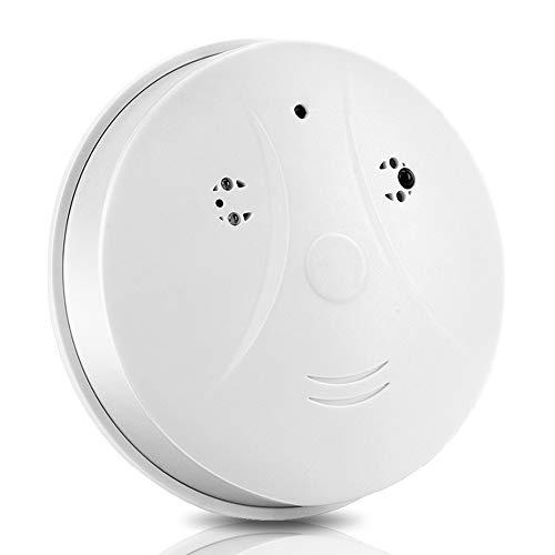 WISEUP 16GB 720P HD Camara de Vigilancia Casera Espia Oculta Secreta Detector de Humo Grabador de Audio y Video con Sensor de...