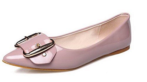 Material cordones Plano AalarDom Suave Rosa Mujer Metal con en Puntera Sin Punta 7nWgHnTq