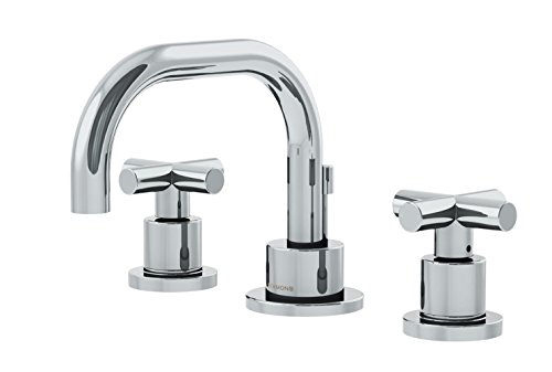 Symmons SLW-3522-H3-1.0 Dia Widespread 2-Handle Bathroom Faucet with Drain Assembly in Polished Chrome (1.0 GPM)