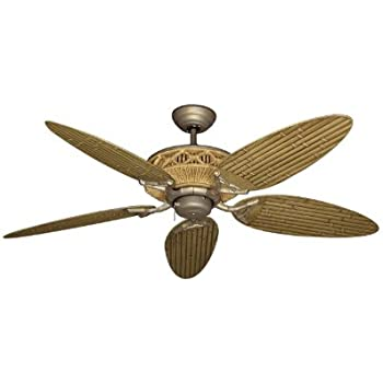 Tiki tropical ceiling fan with 52 outdoor bamboo style blades in tiki tropical ceiling fan with 52 outdoor bamboo style blades in walnut aloadofball Images