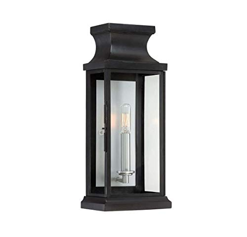 (Savoy House 5-5910-BK Outdoor Sconce with Clear Shades, Black Finish)