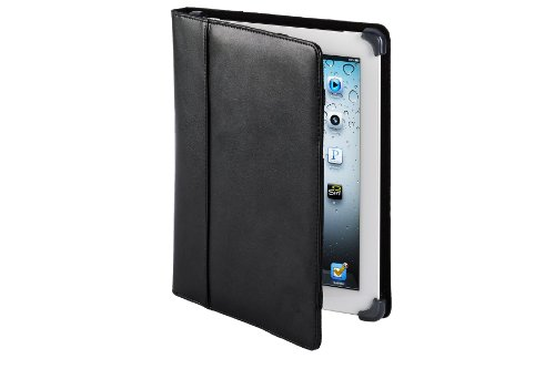 Cyber Acoustics IC-1003BK Protective Black Leather iPad - Acoustics Case Carrying Cyber
