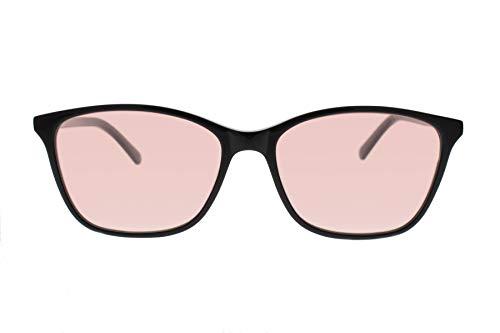 Axon Optics JURA - Migraine Glasses, Relief for Light Sensitivity, Photophobia, Fluorescent Lights, Black, Small