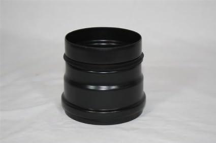 Tubo de humos, estufa Pellet estufa conexión con junta 100 diámetro de 0,6