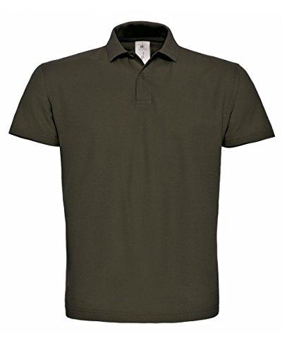 B&C PUI10 Mens Short Sleeve ID.001 Polo Shirt - Brown - 3X-Large