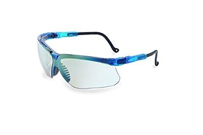 Uvex S3244 Genesis Safety Eyewear, Vapor Blue Frame, SCT-Reflect 50 Ultra-Dura Hardcoat Lens