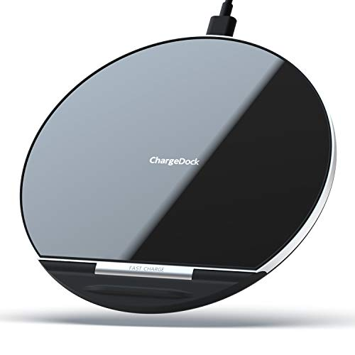 Wireless Charger, Wepor 3 Coils Qi Certified Fast Wireless Charging Pad 7.5W Compatible iPhone Xs Max/XR/X/XS/8/8 Plus, 10W Fast Charge Galaxy S10/S10+/S10E/S9/S8/Note 9, New AirPods (No AC Adapter)
