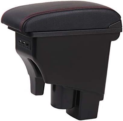 Accoudoirs Bo/îte Consoles main avec porte gobelets et cendrier Pour Fit Jazz 2002-2007 USB Charging