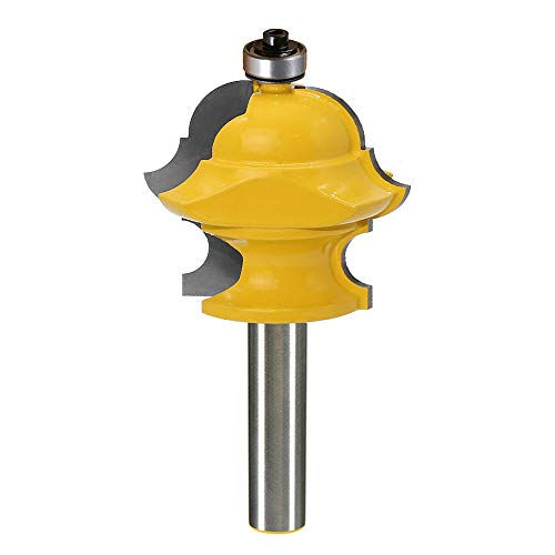 Yakamoz 1/2 Inch Shank Magical Multi-Form Molding Router Bit Multi-Profile Milling Cutter Woodworking Tool   Bullnose, Round Over, Cove, Ogee Multi-Form All in One Design ()