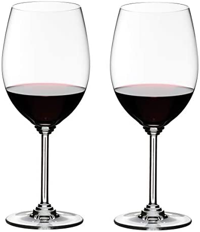 Amazon Com Riedel Wine Series Cabernet Merlot Glass Set Of 2 Clear Red Wine Glasses Wine Glasses