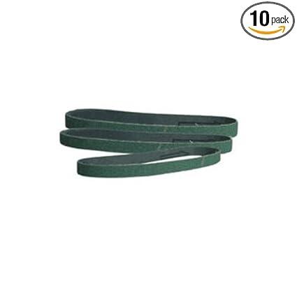 """20 PACK 3//8/"""" x 13/"""" 80 Grit Ceramic Sanding File Belts for Grinding Metal"""
