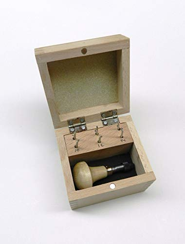 MILGRAIN Tools Set of 6 MILGRAIN Wheels w/Handle & Box Size #'s 4 6 8 10 12 14