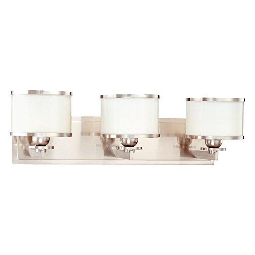 Hudson Valley Lighting 6103-SN Three Light Bath Bracket from the Basking Ridge collection 3, Satin Nickel