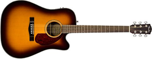 Fender 6 String CD-140SCE Acoustic-Electric Guitar with Case-Dreadnaught Body Style-Sunburst Finish, (962704232)