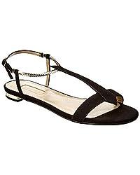 Aquazzura Vogue Suede Sandal 36 5 Black