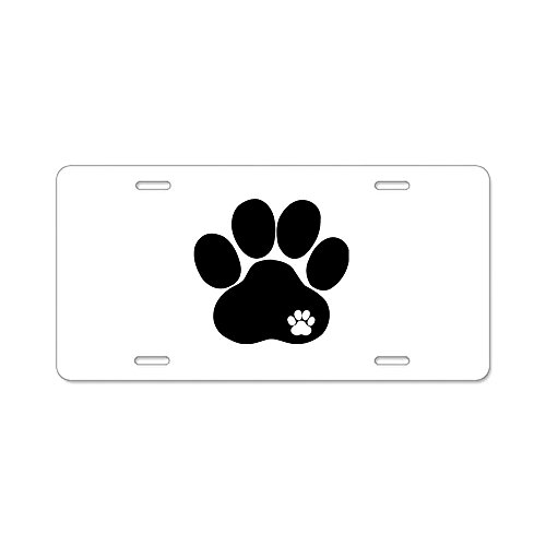 CafePress - Double Paw - Aluminum License Plate, Front License Plate, Vanity ()