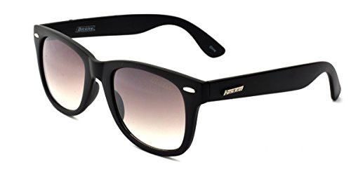 Dickies Men's Wayfarer Sunglasses, Black Matte Frame, APG Smoke Flash Mirror Lens, - Dickie Sunglasses