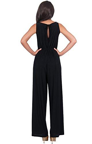 f282fe28eb5d KOH KOH Womens Sleeveless Cocktail Wide Leg One Piece Jumpsuit Romper  Playsuit