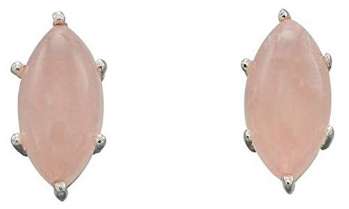 - Elements Silver Womens Marquise Cab Earrings - Pink/Silver