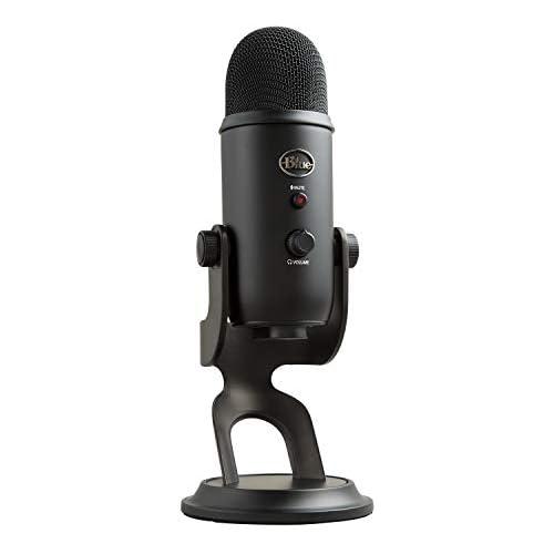 chollos oferta descuentos barato Blue Micrófono USB profesional Yeti para grabación streaming podcasting radiodifusión gaming voz en off y más multipatrón Plug n Play en PC y Mac Negro
