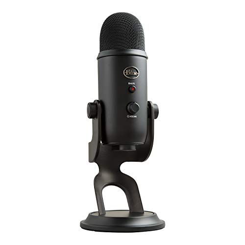 (Renewed) Blue Microphones Blue Yeti USB Mic for Recording and Streaming on PC and Mac, 3 Condenser Capsules, 4 Pickup Patterns, Headphone Output and Volume Control, Mic Gain Control, Adjustable Stand