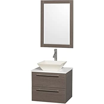 24 inch Carina Single Vessel Sink Wall Mounted Modern