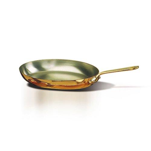 De Buyer 6452.36 Copper Oval Frying Pan - 14 1/8