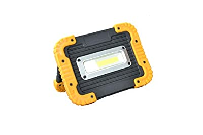 WindFire LED Work Light Floodlight with Stand COB LED Tech Portable Outdoor Security Camping Lights for Job Site Workshop Car Checking Repairing and Emergency Powered by 4xAA Batteries