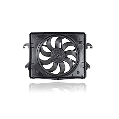 Dual Radiator and Condenser Fan Assembly - Cooling Direct For/Fit 68217820AB 13-19 RAM 1500 3.6L With Brushless Motor: Automotive
