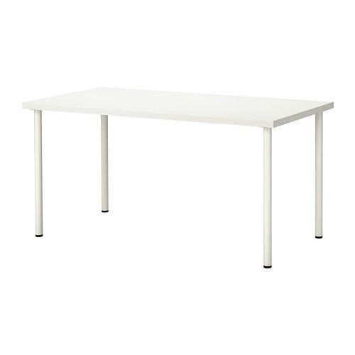 IKEA LINNMON/ADILS - Table, white - 150x75 cm