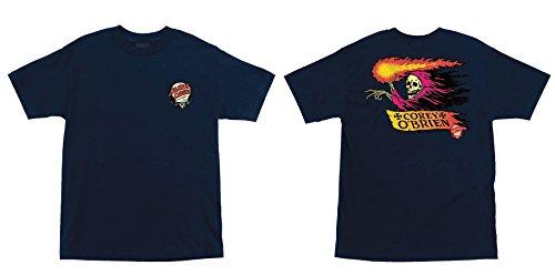 Santa Cruz Skateboard T Shirt OBrien Reaper Navy Size L