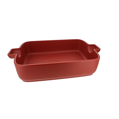 French Home 9.5-inch Red Flame Top Rectangular Baking Dish