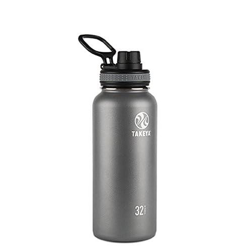 Takeya Originals Insulated Stainless Steel Water Bottle, 32 oz, Graphite