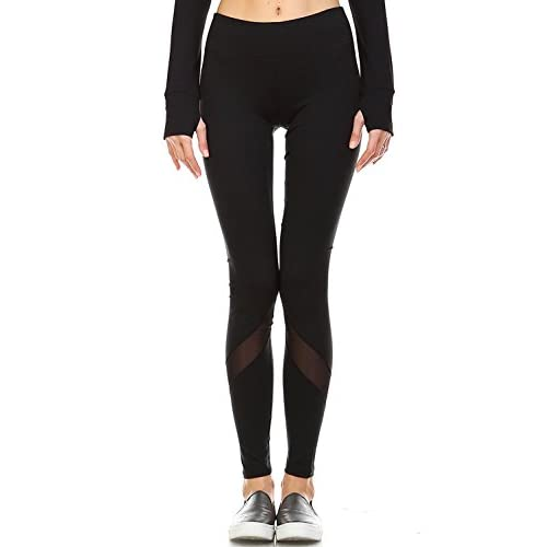 f9e045fa0fc36 70%OFF Mono B Women's Performance Activewear - Yoga Leggings with Sleek  Contrast Mesh Panels