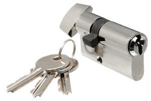 CRL Brushed Stainless Keyed Cylinder Lock With Thumbturn by CR Laurence by CR Laurence (Image #1)
