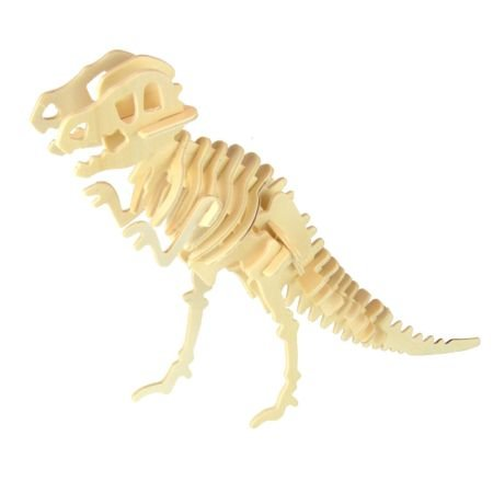 Tyrannosaurus Wooden Dinosaur Skeleton Model Kit (Wooden Kit Skeleton)