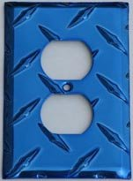 wall outlet cover plate blue - 9
