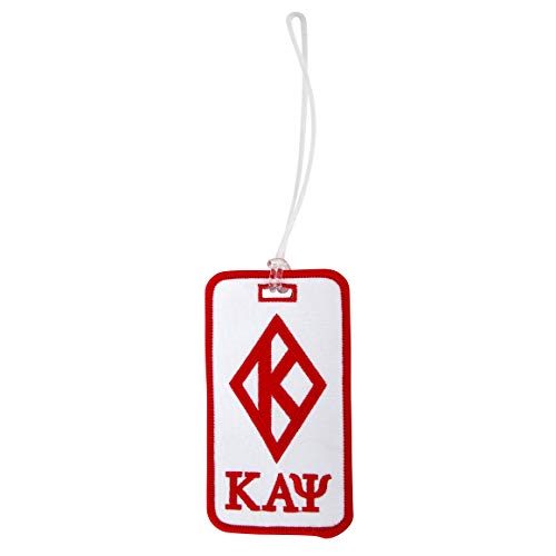 Kappa Alpha Psi Fraternity Diamond w/Letters Embroidered Luggage Tag Bag Nupe (Diamond w/LTR Under Bag Tag) ()